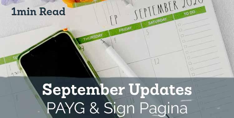Signable September Updates