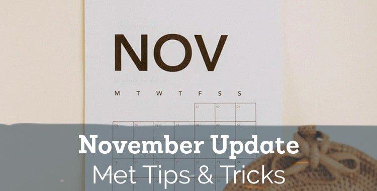 Updates van november – tips en trucs van ons klantenteam